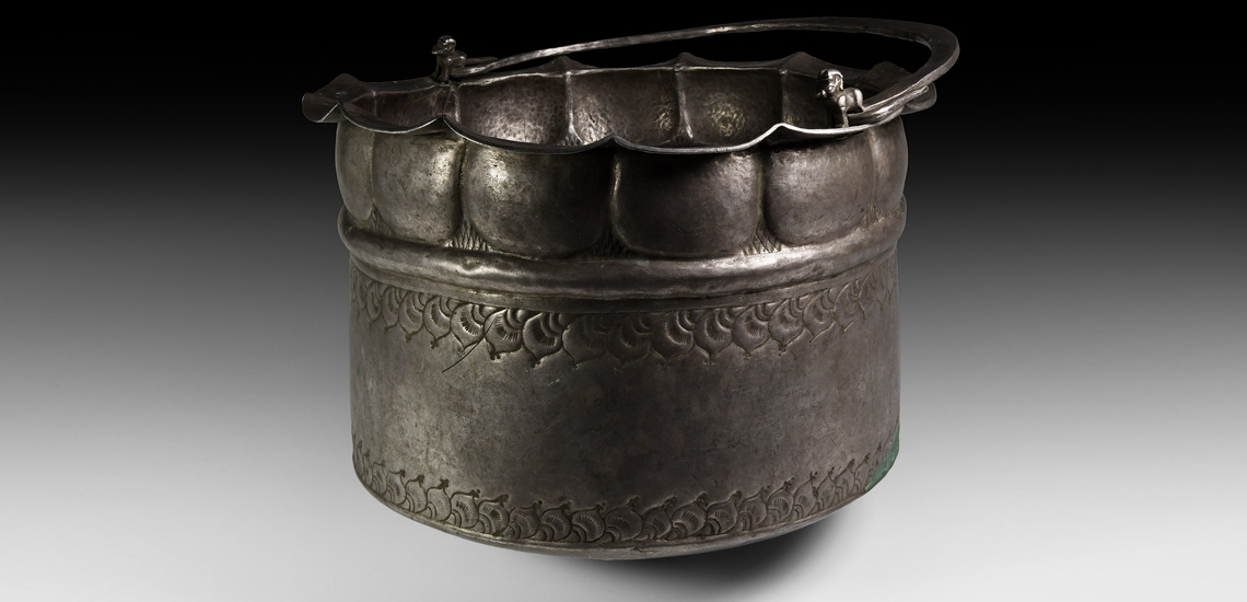 Large Viking Period Sogdian Silver Vessel with Animal Figures £70,000-£90,000