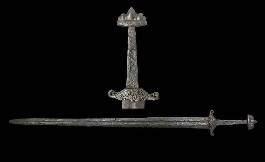 Scandinavian Viking Sword with Elaborate Hilt