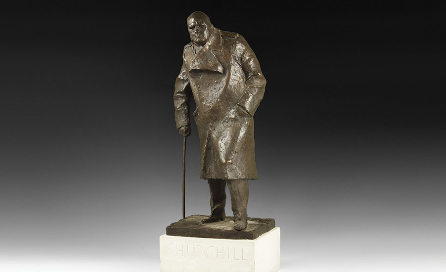 Vintage Parliament Square Churchill Maquette - Sold for: £57,040
