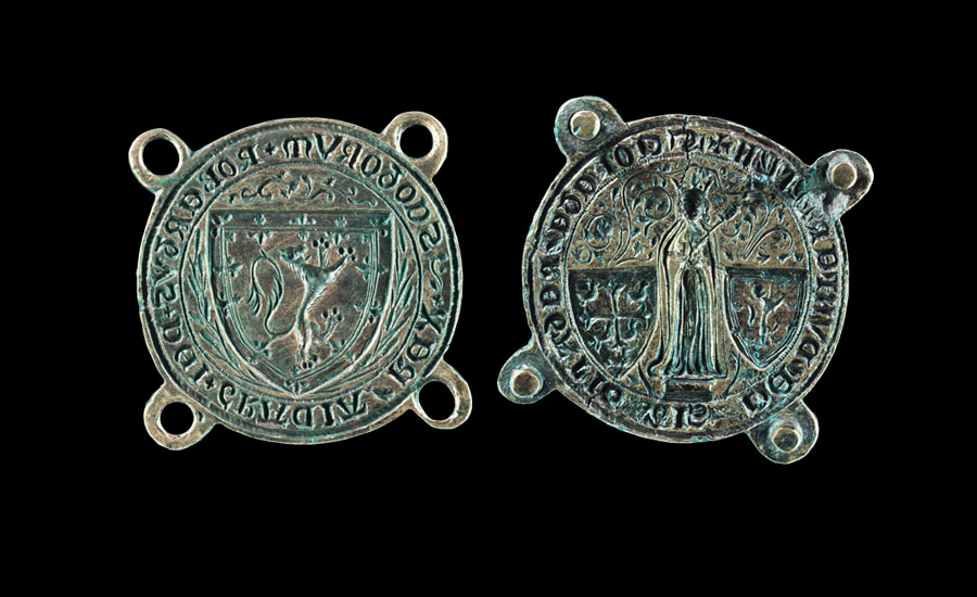 King Robert the Bruce of Scotland and Dunfermline Abbey Cokete Seal Matrix Pair - Sold for: £151,250