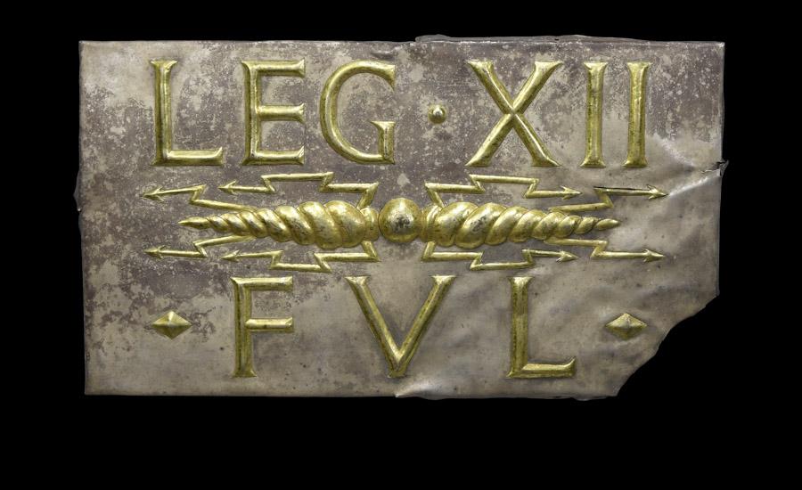 Roman Gilt Silver 'Thunderbolt Legio XII' Plaque £20,000 - 30,000