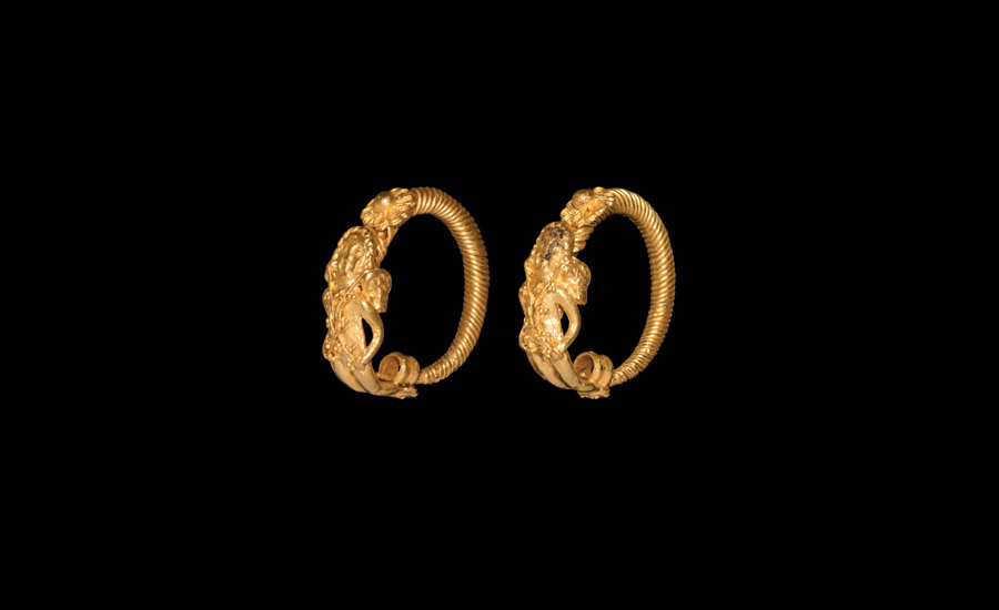 Lot 0078: Greek Hellenistic Eros Earrings £7,000 - £9,000